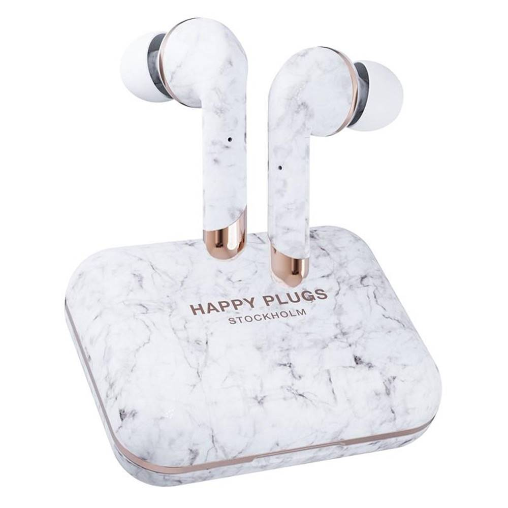 Happy Plugs Slúchadlá Happy Plugs Air 1 Plus In-Ear sivá/biela